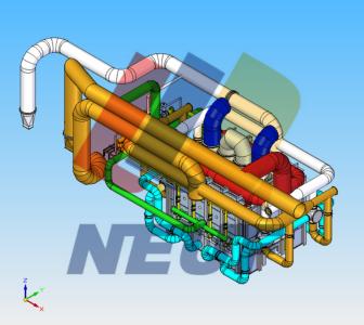 蓄热炉管路系统